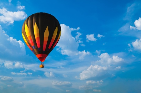 Hot air balloon with blue sky Stock Photo - 9703936