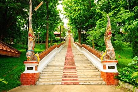 Step of Naga in Phrae, Thailand.  photo
