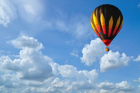 Hot air balloon with blue sky in Thailand. photo