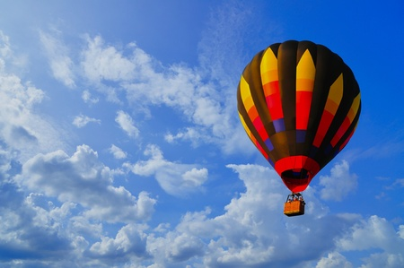 Hot air balloon with blue sky and nice cloud in Thailand. Stock Photo - 10215599