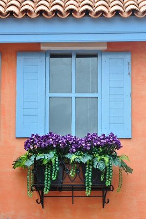 sill: European style window Stock Photo