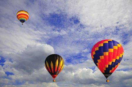 Hot air balloon with beautiful blue sky and nice cloud in Thailand. Stock Photo - 10308952