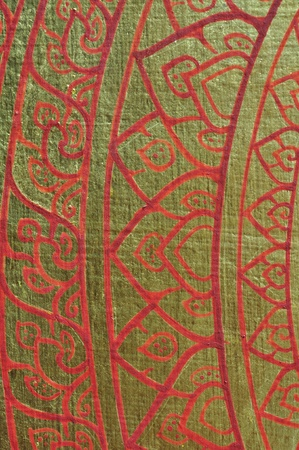 poems: Texture of Thai art painting in Thai temple