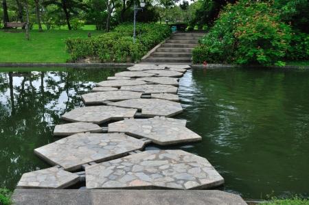 Stone bridge in the garden Zdjęcie Seryjne