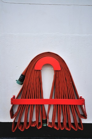 hose: Red fire hose