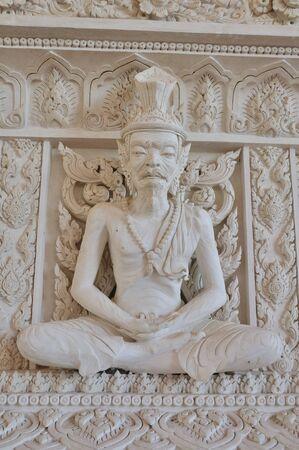 ascetic: Ascetic statue in Thai style molding art