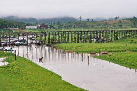 longest: Longest wood bridge in the world, it is located at Sangklaburi, Karnchanaburi, Thailand.