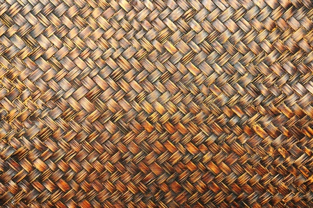The Wall made of bamboo weaving. Stock Photo - 10385727