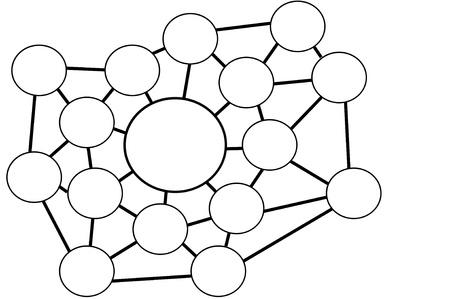 Blank network diagram or chart Zdjęcie Seryjne