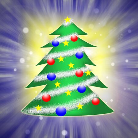 Christmas tree on abstract background  photo