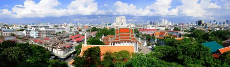 Panorama of Bangkok scenic photo