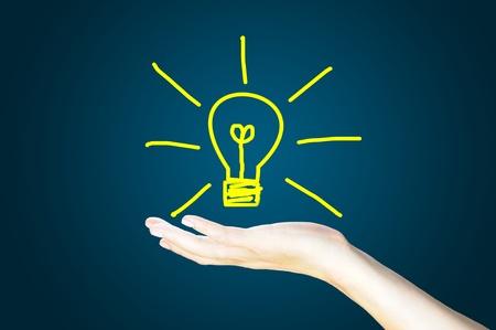 marker pen: light bulb on hand