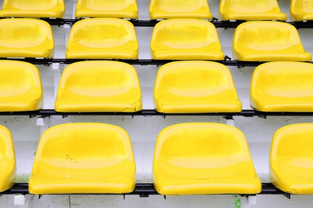 thep: Red seat at Thep Hasadin Stadium in Bangkok, Thailand