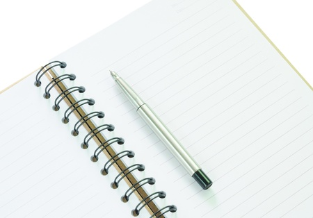 blank note: Notebook and pen in concept of business or education