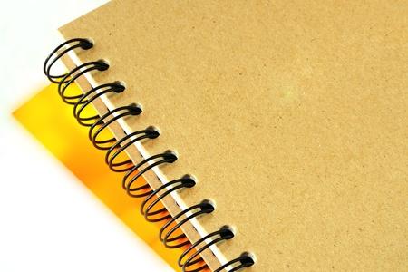 Ring binder book close up photo