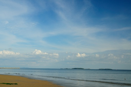 Scenic of the beach and sea at Mae pim cape, Rayong, Thailand. photo