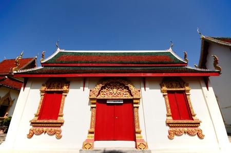 Thai temple of King Punton in Wat Phra That Haripoonchai in Lampoon, north of Thailand.