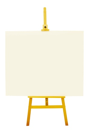artboard: Blank artboard with easel or holder isolate on white background with clipping path