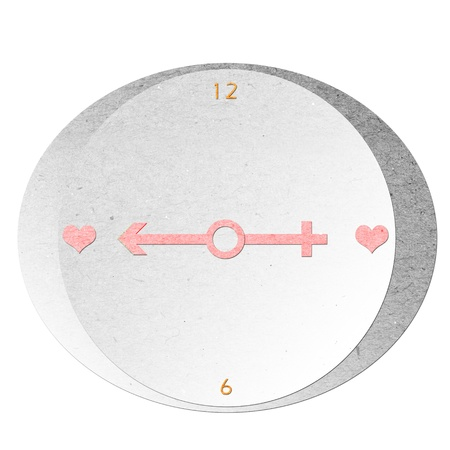 Valentine clock made of recycle paper Stock Photo - 12253057