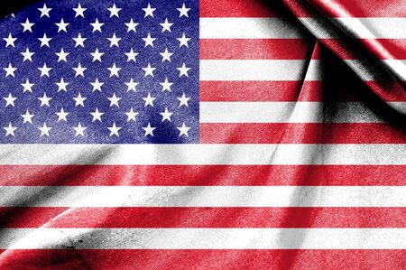 National Flag of United state of America photo