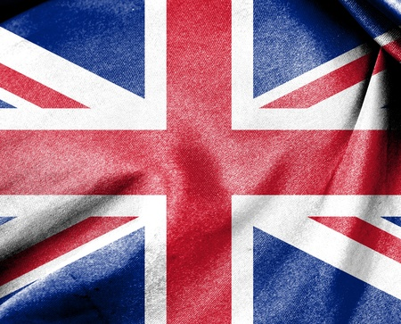 Flag of United Kingdom or Union Jack flag Stock Photo - 12253166