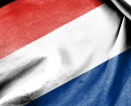 Flag of Netherland or Holland for use as Background photo