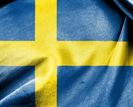 Flag of Sweden for use as Background photo