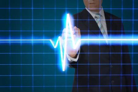 hand beats: Business Draw Heart pulse