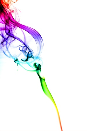 Abstract Green Smoke Background photo