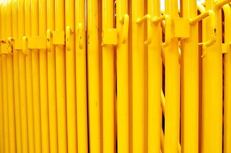 Pattern of Yellow iron pipe photo
