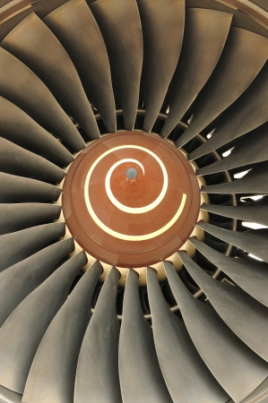 Turbine of an airplane  photo