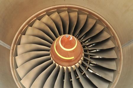 Turbine of an airplane photo