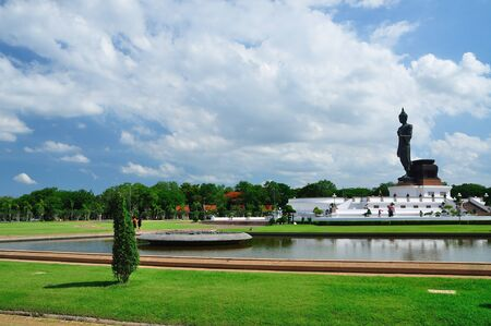 big buddha with blue sky photo