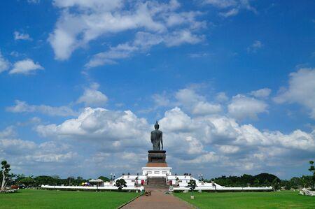 Behind the big buddha with blue sky photo