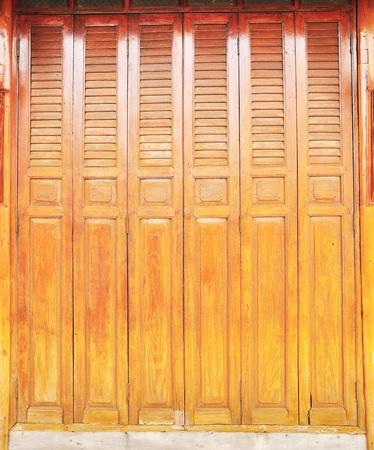 Teak wood door photo