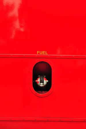 petrol cap cover on red car  photo