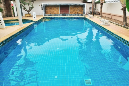 Swimming pool in Bangkok, Thailand  photo