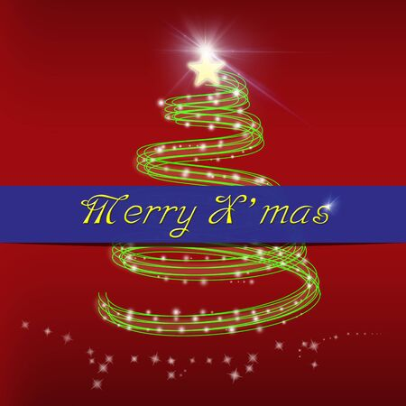 Merry Christmas greeting card Stock Photo - 15991124