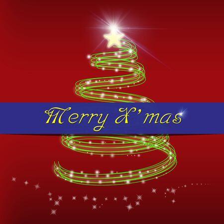 Merry Christmas greeting card Stock Photo - 15991124