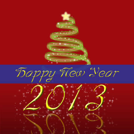 Happy New Year 2013 Greeting Card Stock Photo - 15991122
