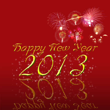 Happy New Year 2013 Greeting Card Stock Photo - 15991126