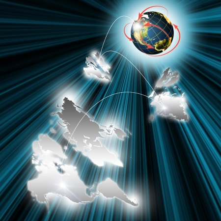 Digital world network in globalization and global business concept Stock Photo - 16186559