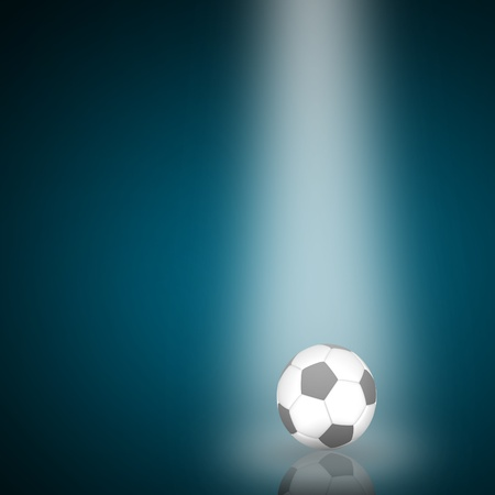Single Soccer ball with reflection from lighting photo