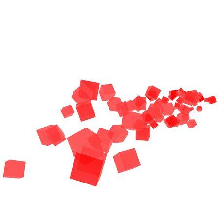 3D Glass Cube  photo