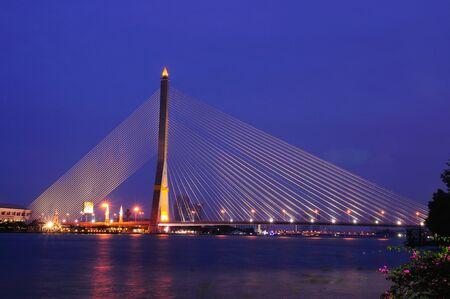 digital art: Rama 8 Bridge in Thailand Stock Photo