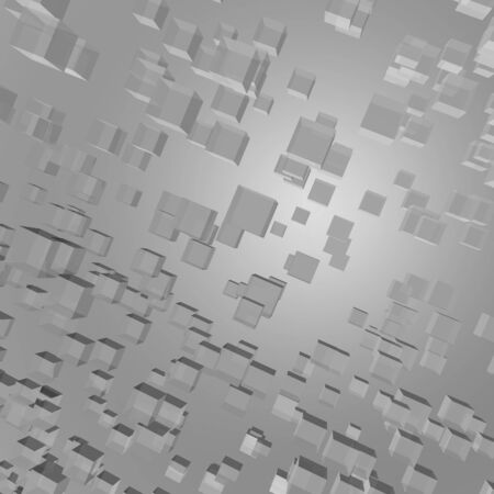 Abstract 3d cube background photo