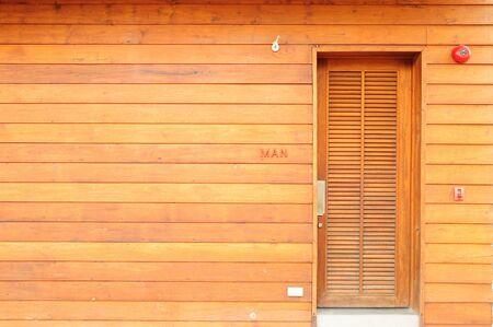 toilet door: Toilet door made of Wood