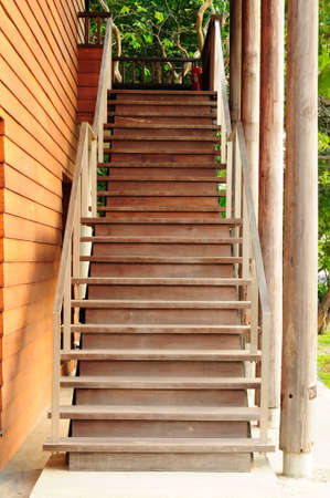 Wood step or Stair photo