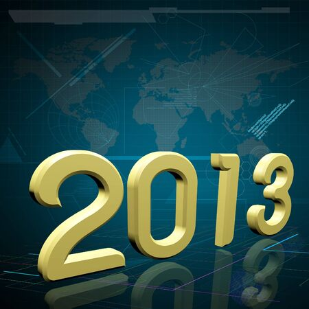 2013 the Year on Technology Background     Elements of this image furnished by NASA Stock Photo - 16666275