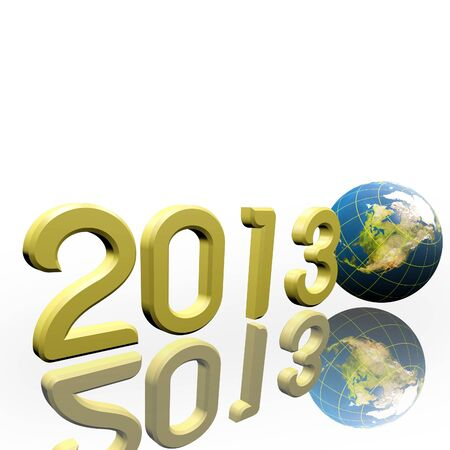 Year 2013 and Earth globe     Elements of this image furnished Stock Photo - 16666274